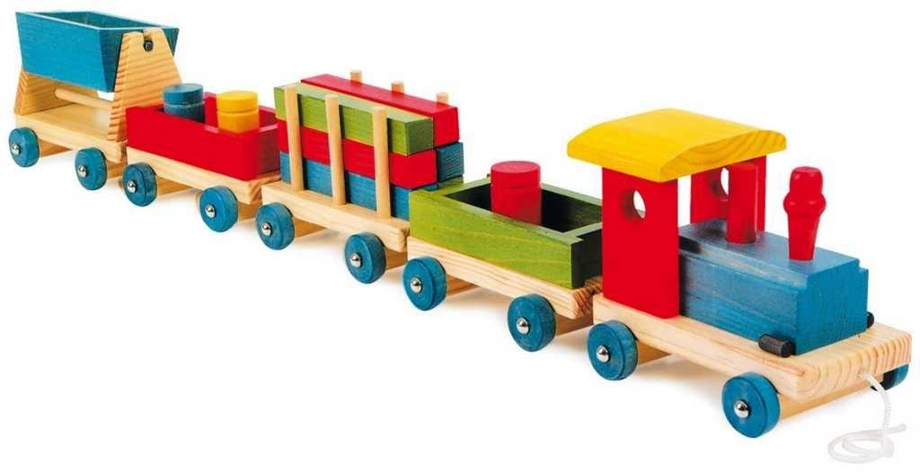 Dřevěné hračky Dřevěné hračky - Dřevěný vláček Emil Small foot by Legler