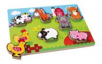 Small Foot Vkládací puzzle zvířecí farma
