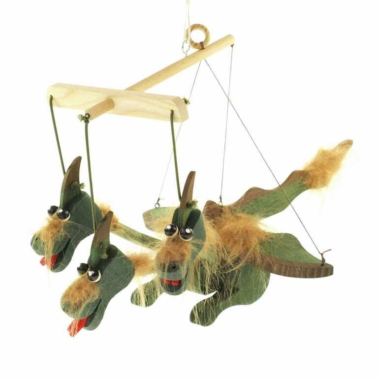 Dřevěné hračky Dřevěné loutky - Drak Česká dřevěná hračka