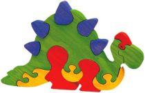 Fauna Dřevěné vkládací puzzle z masivu velký stegosaurus