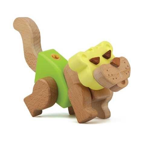 Dřevěné hračky Kreativní stavební sada - Hravá stavebnice Moje ZOO - Tygr My Zoo