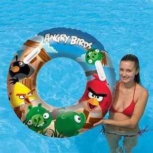 Dřevěné hračky Nafukovací kruh velký - Angry Birds Bestway