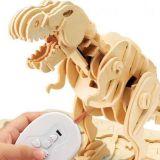 Dřevěné hračky RoboTime Stavebnice robotická hračka dinosaurus Tyranosaurus