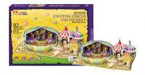 Třívrstvé pěnové 3D puzzle  - Cirkus