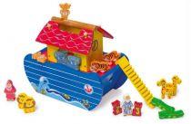Dřevěné hračky Dřevěná Noemova archa modrá Small foot by Legler
