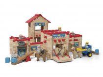 Dřevěné hračky Jeujura Dřevěná stavebnice 300 dílů hrad