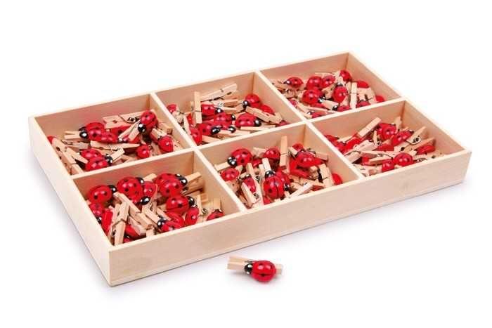 Dřevěné hračky Dřevěné dekorativní kolíčky na prádlo - Berušky 1ks Small foot by Legler