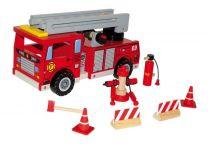 Small Foot Dřevěné hasičské auto s příslušenstvím