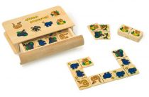 Dřevěné hračky - dřevěné hry -  Domino divoká zvířata