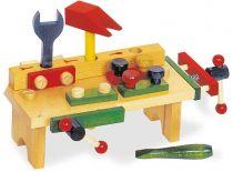 Dřevěné hračky - Ponk - Pracovní stůl s nářadím