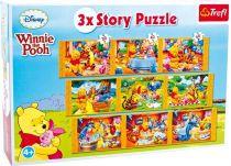 Papírové puzzle 3 v 1 Winnie the Pooh Story
