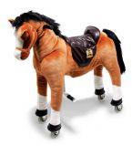 Small Foot Pohyblivý dětský jezdecký kůň na kolečkách Blesk