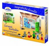 Dřevěné hračky Detoa Dětské divadlo magnetické - Červená Karkulka