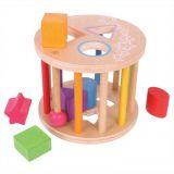 Dřevěné hračky Bigjigs Baby Válec s tvary Bigjigs Toys