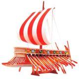 Dřevěné hračky Dřevěné 3D puzzle dřevěná skládačka - Fénická galéra PC130 Woodcraft construction kit