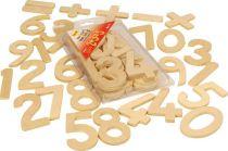Dřevěné hračky Bigjigs Toys Dřevěné číslice se znaménky