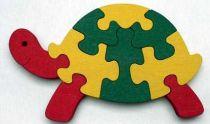 Dřevěné vkládací puzzle Želva bez rámečku