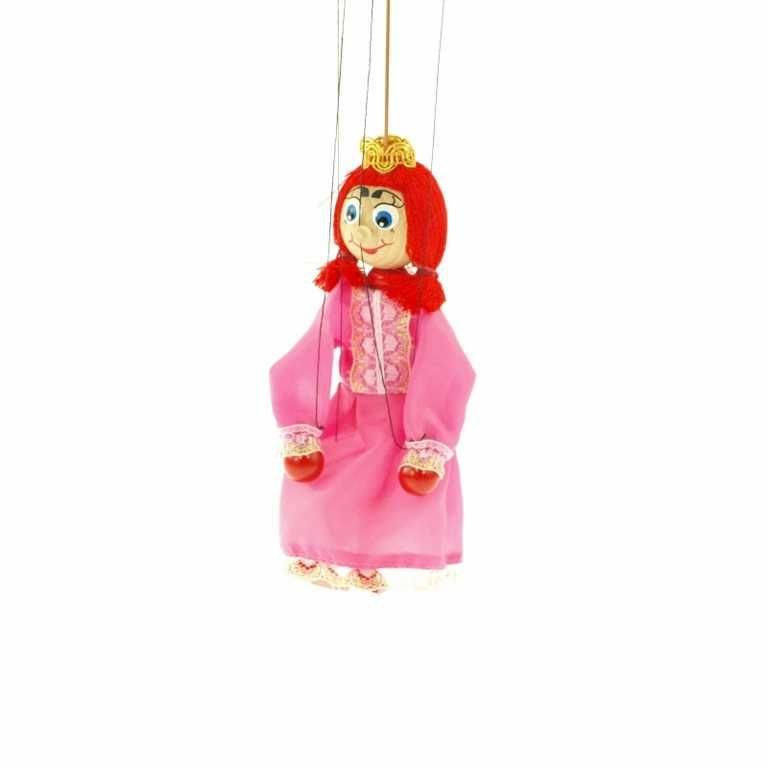 Dřevěné hračky Dřevěné loutky - Princezna Česká dřevěná hračka