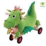 Dřevěné hračky Dřevěné odrážedlo - Jezdící dráček Puffy Wonderworld
