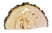 Dřevěné vánoční ozdoby - 3D Jesličky