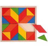 Dřevěné hračky Bigjigs Toys Dřevěná mozaika barevná