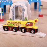 Dřevěné hračky Bigjigs Rail Vagón s jeřábem