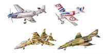 Třívrstvé pěnové 3D puzzle  - 3D Historická letadla - 4ks