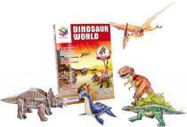 Třívrstvé pěnové 3D puzzle - 3D svět dinosuarů