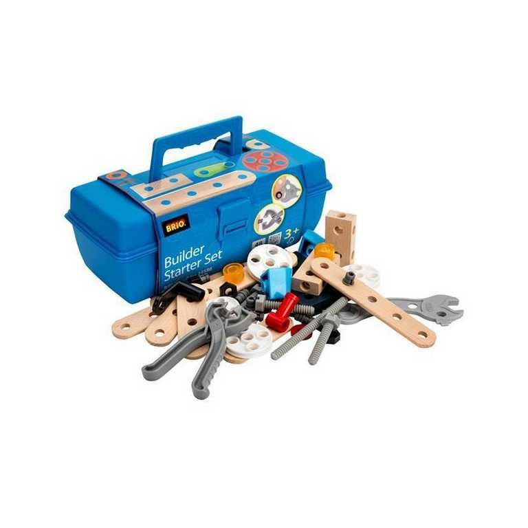 Dřevěné hračky Brio Builder startovací set v kufříku 48 ks