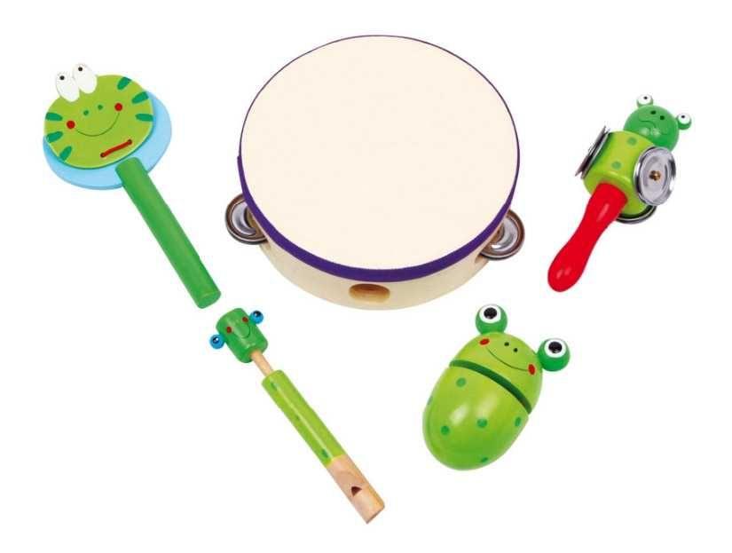 Dřevěné hračky Dřevěné hračky - Dřevěná hudební sada žabky Small foot by Legler