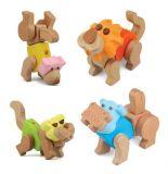 Dřevěné hračky - Moje ZOO - Set 3 ze 4 !