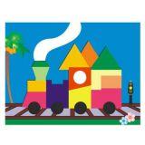 Dřevěné hračky Dřevěné vkládací puzzle váček Vkládačky