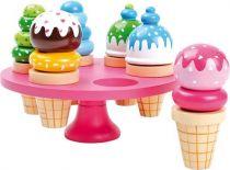 Small Foot Dřevěné hračky zmrzlina v kornoutku