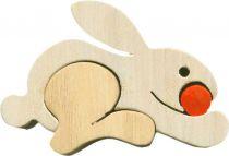 Fauna Dřevěné vkládací puzzle z masivu malý zajíc