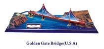 Třívrstvé pěnové 3D puzzle  - Golden Gate
