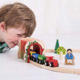 Dřevěné hračky Bigjigs Rail Cihlový železniční tunel