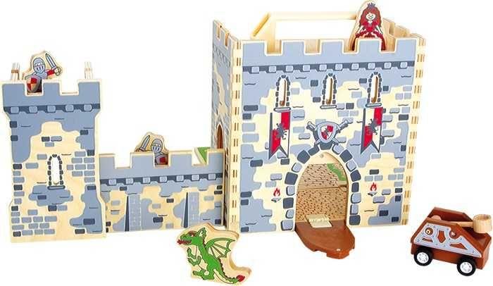 Dřevěné hračky Small Foot Dřevěný rytířský hrad v kufru Small foot by Legler