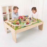 Dřevěné hračky Bigjigs Rail Vláčkodráha Services a stůl