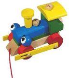 Dřevěné hračky Detoa Mrkací mašinka