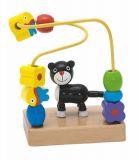 Dřevěné hračky - Motorický labyrint mini - kočka