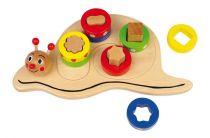 Small Foot Dřevěné hračky poznej tvary Šnek