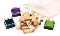 Dřevěné výtvarné hračky - dřevěná dětská razítka abeceda