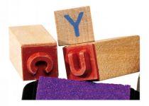 Dřevěné hračky Dřevěné výtvarné hračky - dřevěná dětská razítka abeceda Small foot by Legler