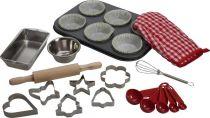 Dřevěné hračky Bigjigs Toys Set nástrojů pro pečení