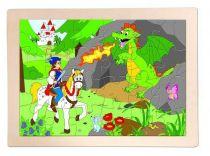 Woody Dřevěné puzzle princ Bajaja
