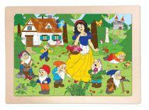 Woody - Dřevěné puzzle Sněhurka