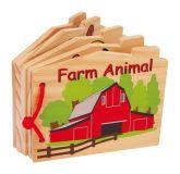 Small Foot Dřevěná knížka zvířátka na farmě