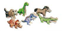 Dřevěné 3D puzzle - Sada 6 ks dinosaurů