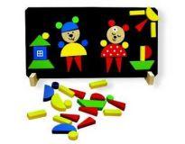 Dřevěné hračky Detoa Magnetické puzzle Medvědi