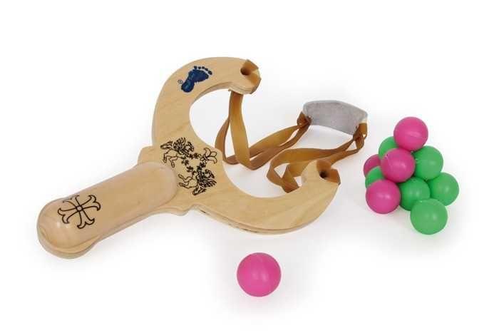 Dřevěné hračky Small Foot Dřevěné hračky prak s kuličkami Small foot by Legler